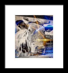 Sacred Cow Framed Print By Eleni Mac Synodinos