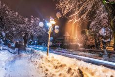 Winter night by Cezar Machidon on Winter Night, Snow, Outdoor, Outdoors, Outdoor Games, The Great Outdoors, Eyes, Let It Snow