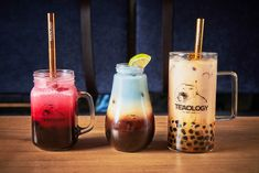 """At Teaology, you will find a """"100% vegan"""" cup of tea filled with house-made toppings, plant milks and a giant piece of passion. Butterfly Pea Flower Tea, Black Ocean, Bubble Tea, House Made, Tea Cups, Bubbles, Plant, Passion, Vegan"""
