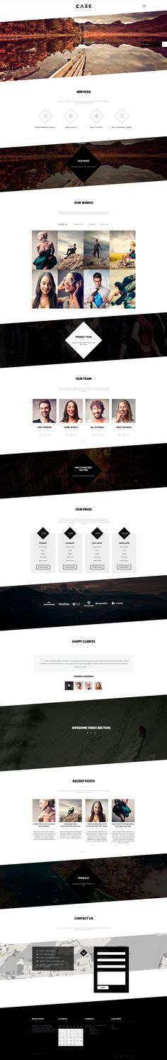 Case / Parallax One-page WordPress Theme  #web #design #parallax