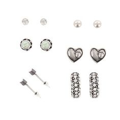 Shyanne® Women's Classic Variety Silver Earring Pack