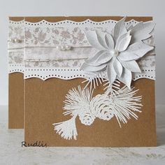 love, life and crafts Rudlis: Kraft+white= simple Christmas cards