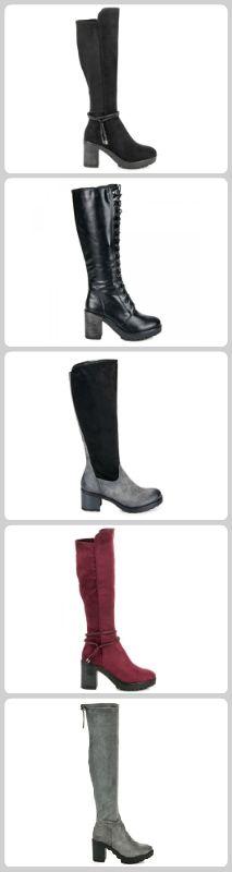 Čižmy s hrubou podrážkou Knee Boots, Heels, Fashion, Heel, Moda, Fashion Styles, Knee Boot, High Heel, Fashion Illustrations