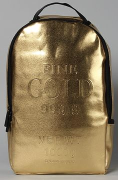 The Gold Brick Backpack by Sprayground... I think they could've done better.