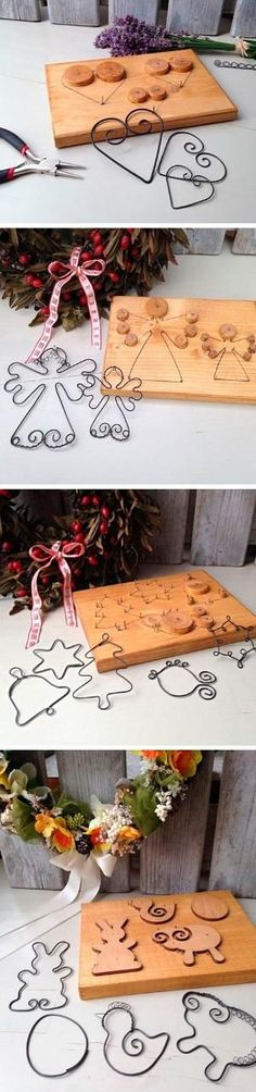 Amazing wire wrap idea for DIY home Christmas decor by Glenda - Christmas Crafts Diy Wire Crafts, Metal Crafts, Christmas Projects, Holiday Crafts, Diy And Crafts, Decor Crafts, Diy Projects To Try, Craft Projects, Noel Christmas