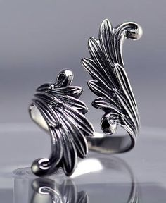 Final Fantasy 8 Rinoa Siren wings Ring Sterling silver | eBay