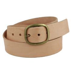 Natural Oval Buckle Belt: Featured Product Image