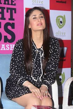 Kareena Kapoor Showcasing Her Sexy Thighs In A Black and White Polka Dotted Dress | Mash To's