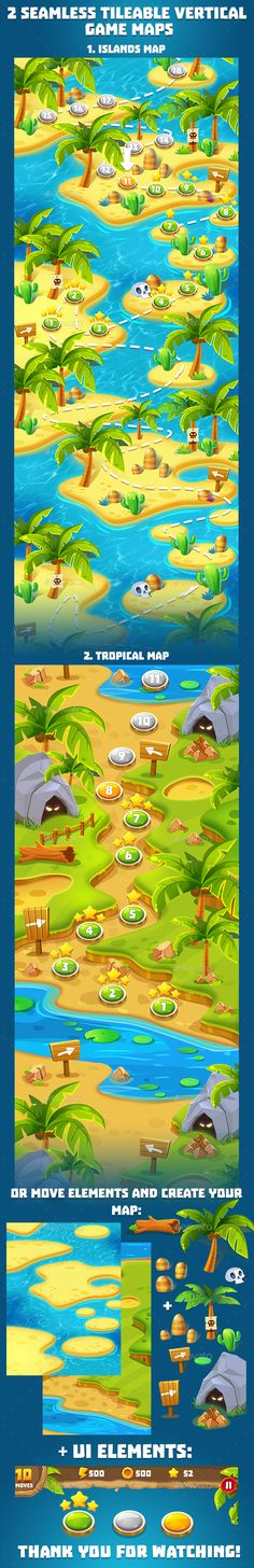 2 Tropical Seamless Game Maps - #Miscellaneous #Game Assets Download here: https://graphicriver.net/item/2-tropical-seamless-game-maps/19763207?ref=alena994