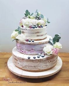 Hochzeit  Naked Cake  Waldbeersahne Cake, Desserts, Food, Berries, Sugar, Wedding, Tailgate Desserts, Deserts, Mudpie