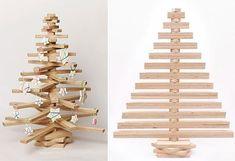 6 sapins de Noël en bois à fabriquer