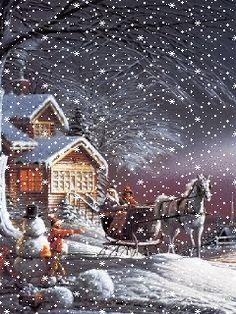 Зима - анимация на телефон №1362114