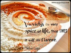Spice up life with real food!