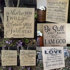 Subway Art Burlap Canvas Words of Hope by LoveandPrayersGifts, $27.00