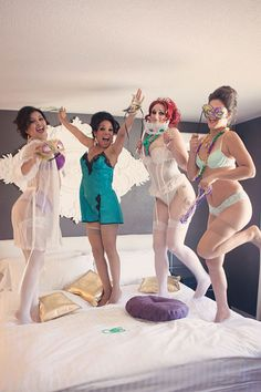 Las Vegas Bachelorette Party Boudoir French Mardi Gras Undertones