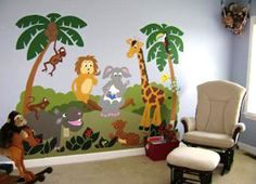peinture murale jungle - Recherche Google