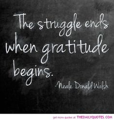 Gratitude - I struggled even pinning this... in time it will get easier