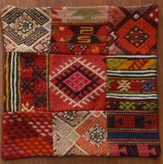 Kilim Kırlent Organic Shapes, Persian Carpet, Ikat, Handicraft, Rugs On Carpet, Needlepoint, Needlework, Bohemian Rug, Weaving