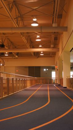 The local indoor track so I can run when it's COLD outside.