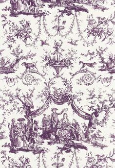 Le Couronnement de la Rosiere Violet Fabric SKU - 175272