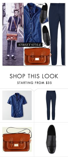 """""""Street style"""" by leathersatchel ❤ liked on Polyvore featuring American Eagle Outfitters, Hot Topic, men's fashion, menswear, Leather and leathersatchel"""
