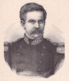 Portrait-XIXe-General-Juan-Nepomuceno-MATEUS-Colombie-Colombia