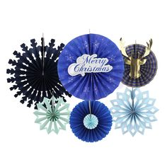 Get into the chritmas holiday spirit with a fun and easy holiday craft by creating your own paper rosettes and fans. The Easy kit includes - Paper Fans - Diameter from / to / Easy Christmas Decorations, Holiday Crafts, Paper Rosettes, Paper Fans, Craft Kits, Pinwheels, Simple Christmas, Party Supplies, Backdrops