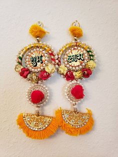 This listing is for a pair of Meenakari earrings. Caution : Please keep out of reach of children and pets as it contains small parts which are a chocking hazard. Diwali Decoration Items, Diya Decoration Ideas, Diwali Decorations At Home, Diwali Craft, Diwali Gifts, Diwali Diya, Gift For Raksha Bandhan, Diwali Gift Hampers, Craft From Waste Material