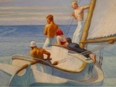 Edward Hopper Ground Swell C Painting People, Figure Painting, Painting & Drawing, American Realism, American Artists, Hooper Edward, Edward Hopper Paintings, Ashcan School, Art History