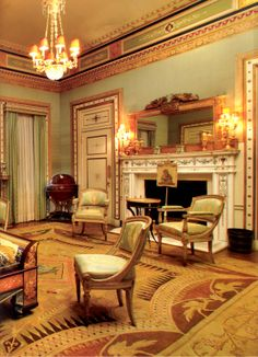 From Emily Evans Eerdman's book Regency Redux This is one of the Neoclassical styles of the called the Empire Style in France signifying the Napoleon Empire 1920s Architecture, Regency House, Jane Eyre, Vintage Room, Empire Style, Neoclassical, Hollywood Regency, Napoleon, Ceilings