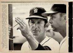 Billy Williams With Dick Tracewski Billy Williams, Billy Martin, Detroit Tigers Baseball, Baseball Hats, Boys, Sports, Baby Boys, Hs Sports, Baseball Caps