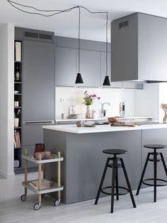 Gorgeous modern scandinavian kitchen design trends (49)