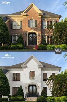 brick&batten is a unique online exterior design service for your home. Exterior Paint Colors, Exterior House Colors, Exterior Design, Home Exterior Makeover, Exterior Remodel, Dream Home Design, House Design, House Makeovers, Exterior Front Doors