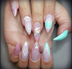 In seek out some nail designs and ideas for the nails? Here is our list of 36 must-try coffin acrylic nails for stylish women. Gorgeous Nails, Love Nails, My Nails, Special Nails, Pointy Nails, Manicure E Pedicure, Glitter Nail Art, Nails Inspiration, Beauty Nails