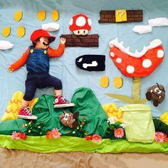 """""""Super Mario Bros #ことの寝相アート #supermariobros #supermario"""""""
