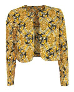 Fair + True -Fair Trade African Print Round Neck Jacket