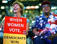 When women vote, Democrats win!  Let's go girls!  Get online and register NOW!  #DoItNow