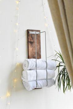 Towel rack, towel storage, blanket rack, blanket storage, bathroom decor