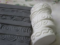 Celtic Curls Scroll Theme Clay Stamp Roller Set of Five Unique Border  Design Bisque Pottery Tool for Ceramic Decoration and Texture Clay Stamps, Pottery Tools, Pottery Classes, Ceramic Techniques, Pottery Techniques, Ceramic Decor, Ceramic Pottery, Make Your Own Pottery, Fimo Polymer Clay