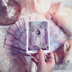 I love tarot cards. ✨They're such a powerful way to connect with our intuition & spirit guides. . Did you know that Tarot was 1st used as an Italian card game in the 1700s!? It's believed the Roma Gypsies brought the sacred art of divination to Europe from ancient Egypt. . Tarot decks are usually divided into 2 sections: the major arcana & the minor arcana. . The 22 cards of the major arcana symbolize the journey into enlightenment. Every card represents an archetypal energy from the…