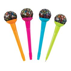 Squishy fun all day long! We combined squishies with cool pens to create our Rainbow Mesh Ball Pens! Order yours today at GEDDES school supplies online. Cool Fidget Spinners, Cool Fidget Toys, Pen Toppers, Cute Pens, Kids Makeup, Glitter Crafts, Best Pens, Christmas Gifts For Girls, Squishies