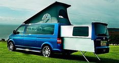 Based on the VW Transporter T5, The DoubleBack VW is a customized camping van with the extendable passenger compartment that comes with a fold-out double bed in the pod, an elevating roof and a kitchenette long with other home amenities.