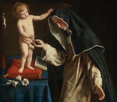 Giovanni Battista Salvi detto il Sassoferrato, S. Caterina riceve da Gesù la corona di spine, XVII sec.