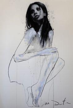 pastel & collage by mark demsteader Figure Sketching, Figure Drawing, Figure Painting, Painting & Drawing, Mark Demsteader, Collage Kunst, Beautiful Sketches, Portrait Art, Portraits
