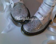 Mariage Dr Martens, crystal Custom Dr Martens, chaussures de mariée, mariée Dr Martens Free Delivery UK