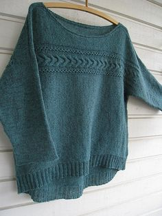 Natsumi pattern by Yoko Hatta (風工房) Provisional Cast On, Work Flats, Slim Pants, Yoko, Two By Two, It Cast, Pairs, Pullover, Knitting