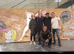 """Mural painting by Susoespai, at Theatre Institute of BCN -a collaboration with the social workshop / Pintura mural, obra del taller Susoespai, istal·lada a l'Institut del Teatre - Barcelona /  Pintura mural, colaboración con los autores del taller """"Susoespai.org"""" Barcelona, Social, Theatre, Painting, Community, Space, Mural Painting, Authors, Atelier"""