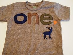 Woodland shirt Navy woodgrain brown olive green Tshirt Deer Detail Birthday shirt Customize colors
