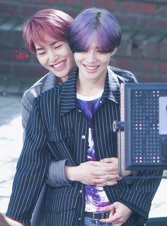 Cute Taemin can't help but smile love that purple hair