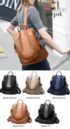 Leisure PU Travel Bag Oxford Vertical Stripe Multifunction Handbag Backpack  for big sale!  backpack  Bag  oxford  student  college  school b3d7c99fc6